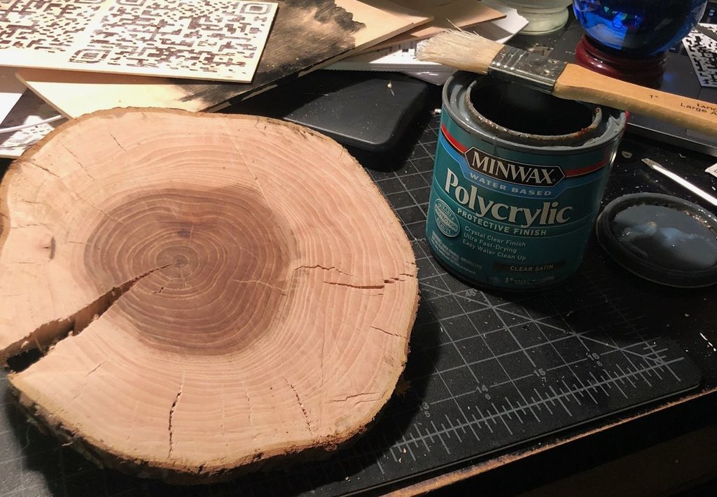 Picture of Apply Polycryclic to Wood