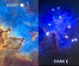 星云发光的LED星光之夜