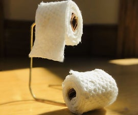 Mini Toilet Paper Rolls and Stand