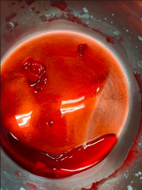 Picture of Step 15: Prepare and Pour  Red Wax Into Candle