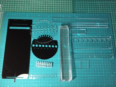 Cutting Acrylic Parts by Laser Cutter