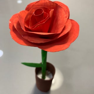 PAPER ROSE from computer paper. YouTube video ... lovely and not ... | 320x320