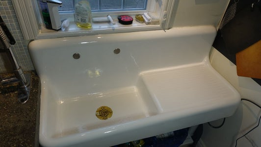 Refinishing an Antique Porcelain Sink