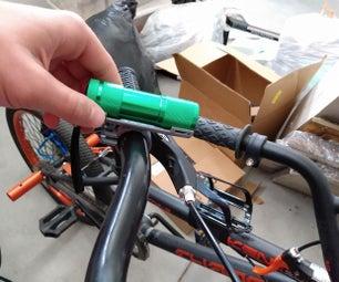 如何把一个手电自行车前大灯