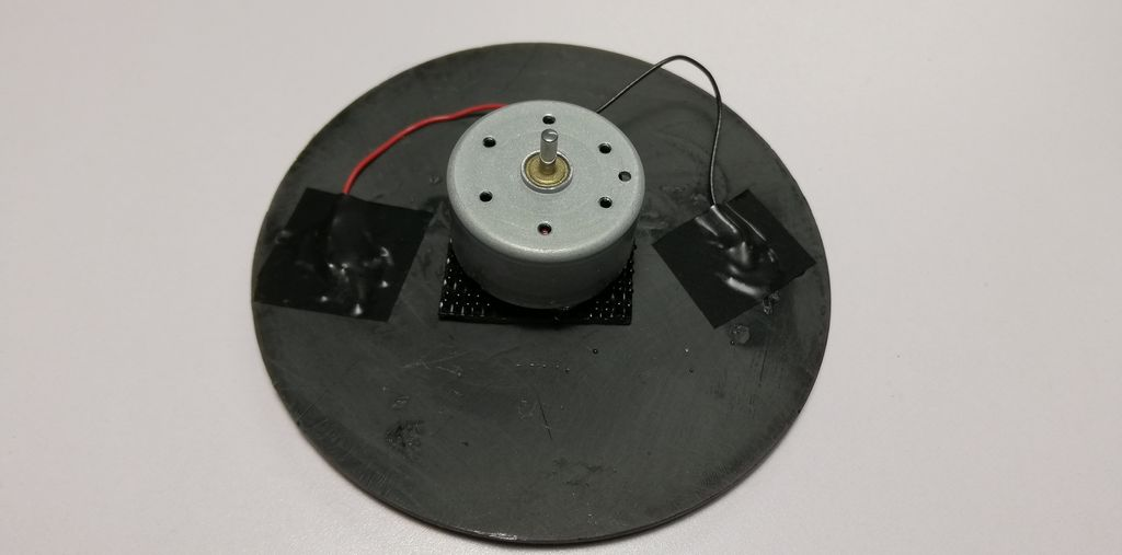 Picture of Join the Small DC Electric Motor to the Solar Panel