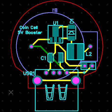 Picture of BOOST CONVERTER USING COIN CELL