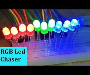 Multiple RGB Led Chaser Using Arduino Uno