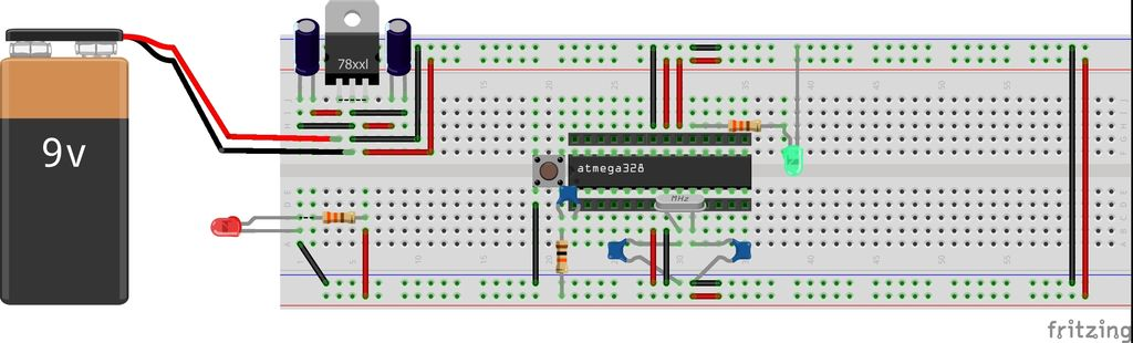 Picture of Self-made Arduino Board