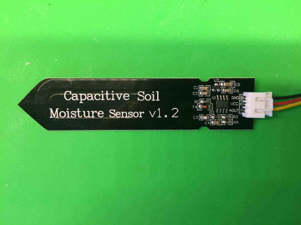 Picture of Get a Capacitance-based Soil Moisture Sensor and Test