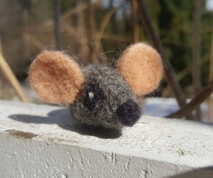 Needle Felted Catnip Mouse Toy