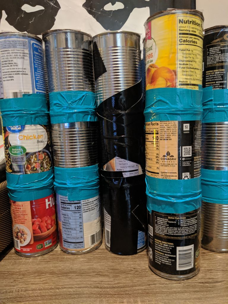 Picture of Tape Cans Together