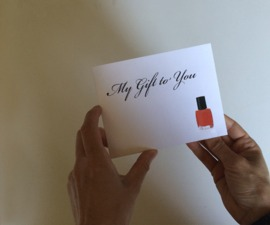 Pop-up Pedicure gift card