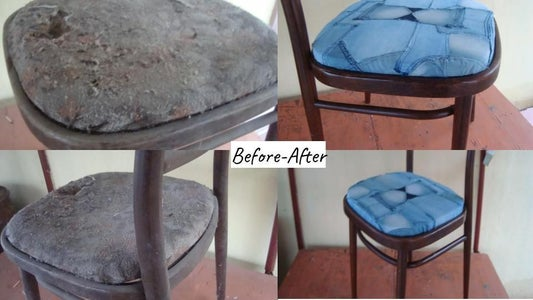 We Polish the Chair.Wow, Everything Is Ready! Now the Old Things Will Serve Again !