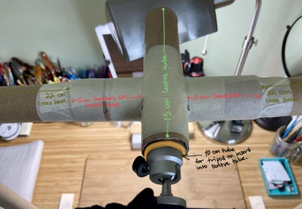 Overhead Camera Stand From Cardboard Tubes