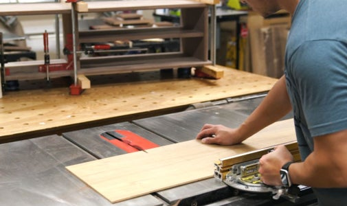 Partition & Back Panel Glue-up