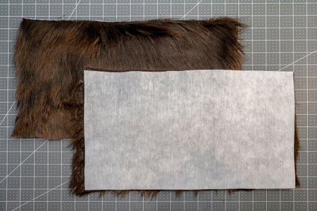 Add Interfacing to the Faux Fur
