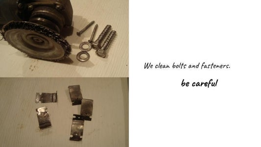 We Clean Bolts and Fasteners,We Put in Place the Fasteners,Clem New Pillow.