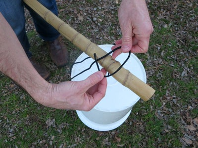 Attach String to Stick