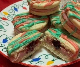 Hidden Raspberry Sandwich Cookies