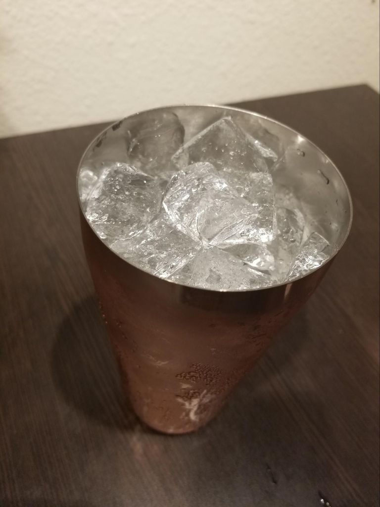 Picture of Fill Cocktail Shaker With Ice.