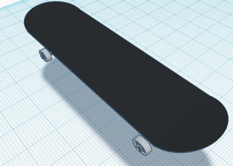 Picture of High Quality Black Matte Skateboard