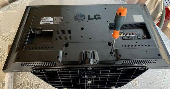"""LG 32"""" LED TV Back Cover Disassembly"""