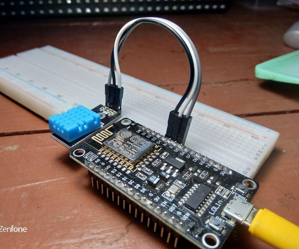 Digital Thermometer DHT11 Using ESP8266