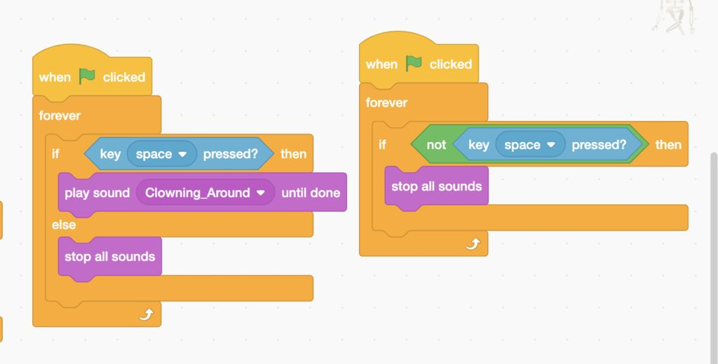 Picture of Code in Scratch