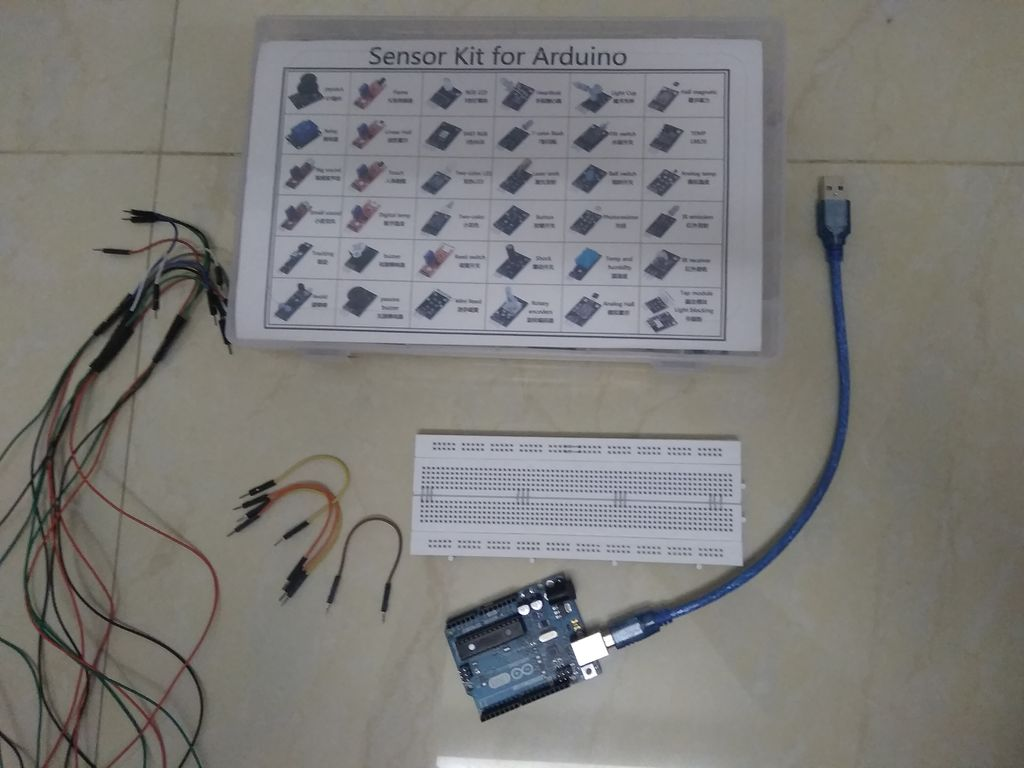 Picture of Prototype - Alarm Device Using a Human Touch Sensor (KY-036)