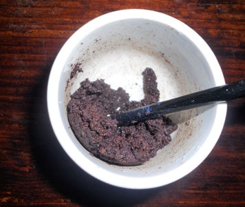 Mixing Coffee Grounds and PVA