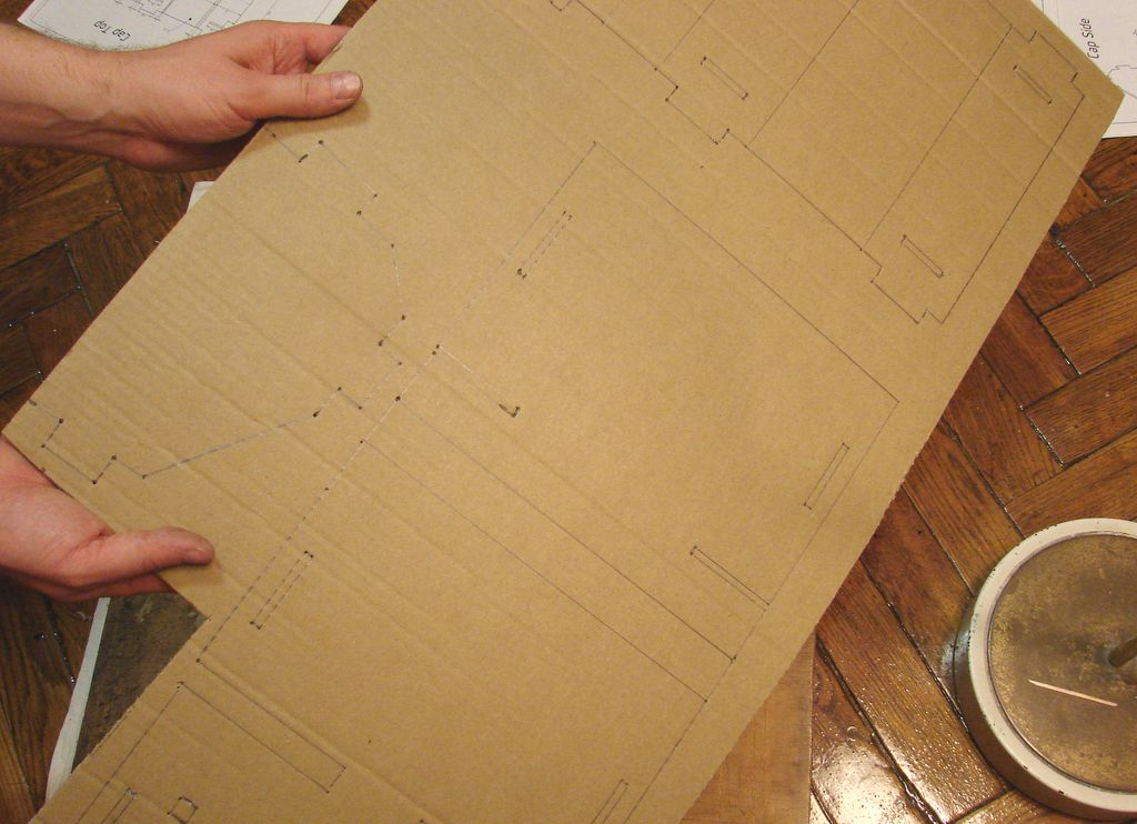 Picture of Cut Parts Out of Cardboard