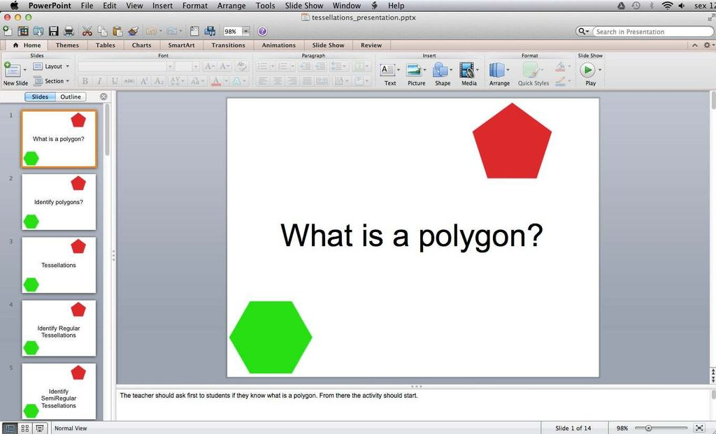 Picture of Classroom Activity - What Is a Polygon?