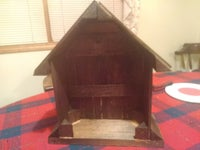 Nativity Creche Upcycled From Clementine Fruit Crates