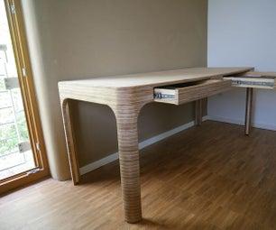 夹板办公桌为双家庭办公室