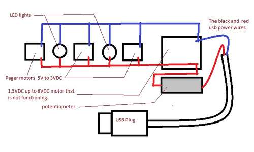 Picture of Help with problems running motor via usb plug... motor not getting enough power.