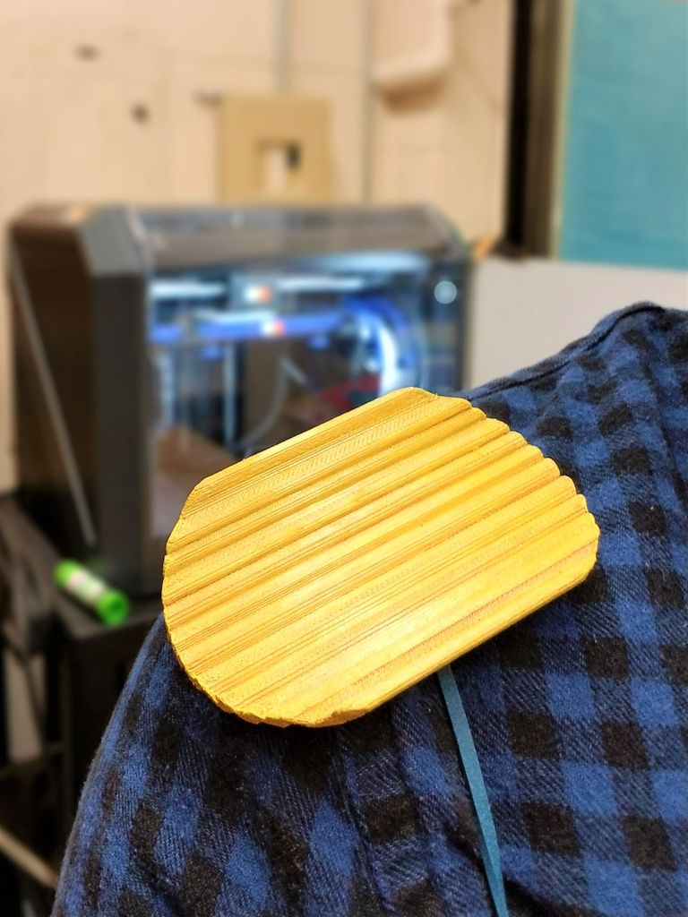Picture of 3D Printed Chip on Shoulder Costume