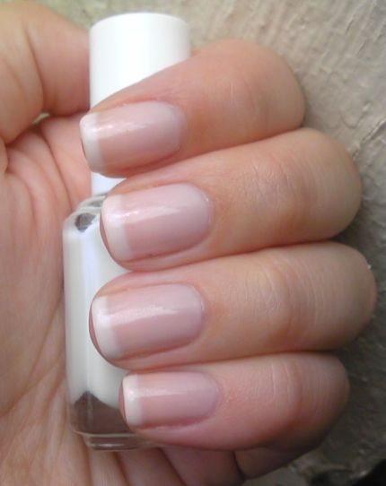 Picture of Doing a French Nail Polish During a Drive