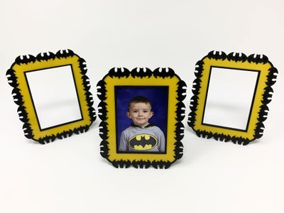 """""""Batman"""" Themed Picture Frame"""