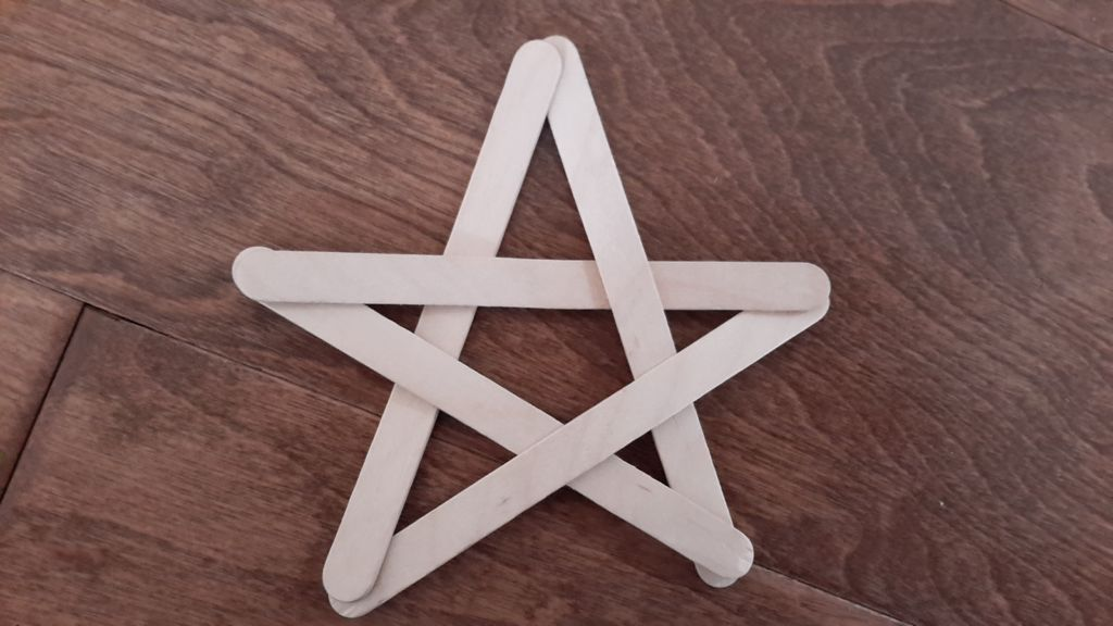 Picture of Popsicle Stick Star