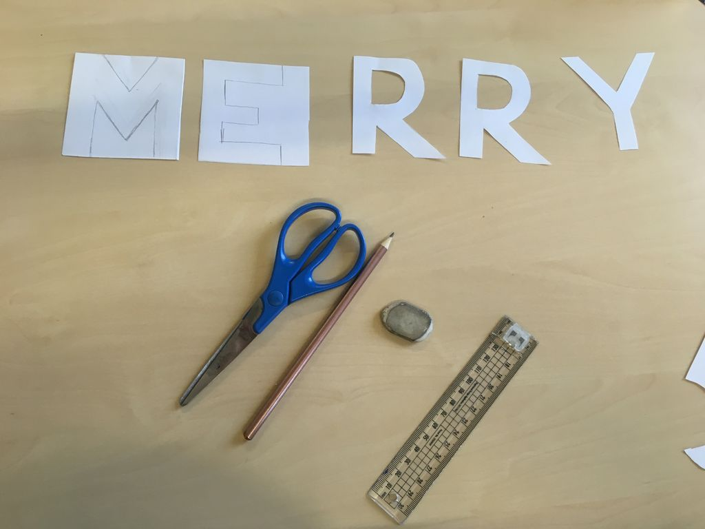 Picture of Cutting Out Letters