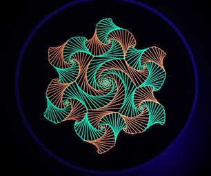 Parabolic Curve Art Embroidery