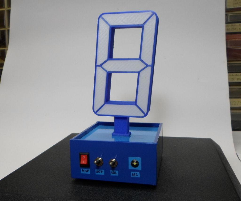 DIY 3D Printed  Single Digit Arduino Clock