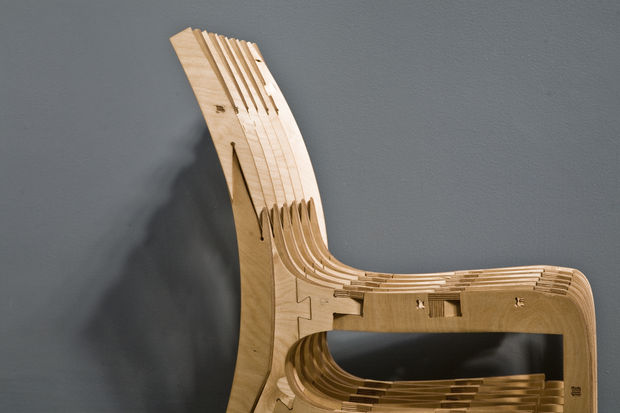 Cnc Scissor Chair Plywood