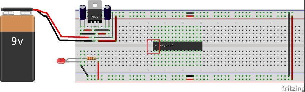 Picture of ATmega328P-PU Microcontroller