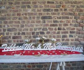 Lasercut Wedding Decorations (Arrows/Just Married Sign/Mrs & Mr/...)
