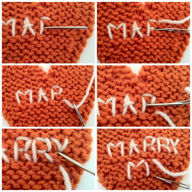 """Embroider """"Marry Me"""""""