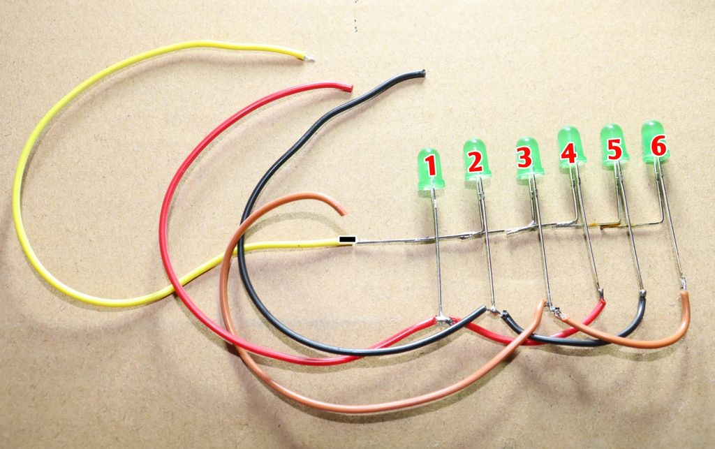 Picture of Connect a Wire to -ve Leg of LEDs