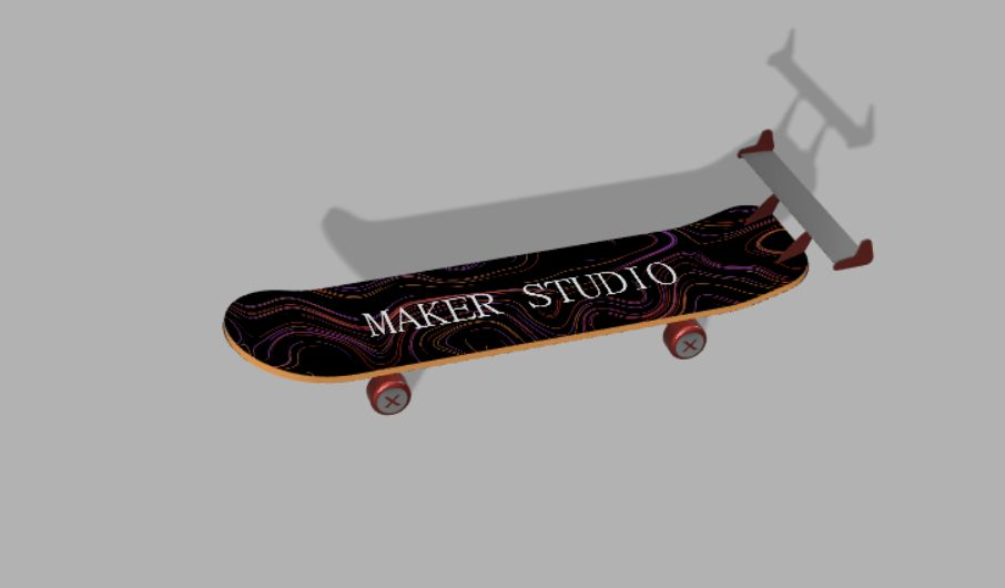 Picture of Skateboard With Tail Fins