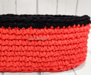 Make Your Own Crochet Oval Basket