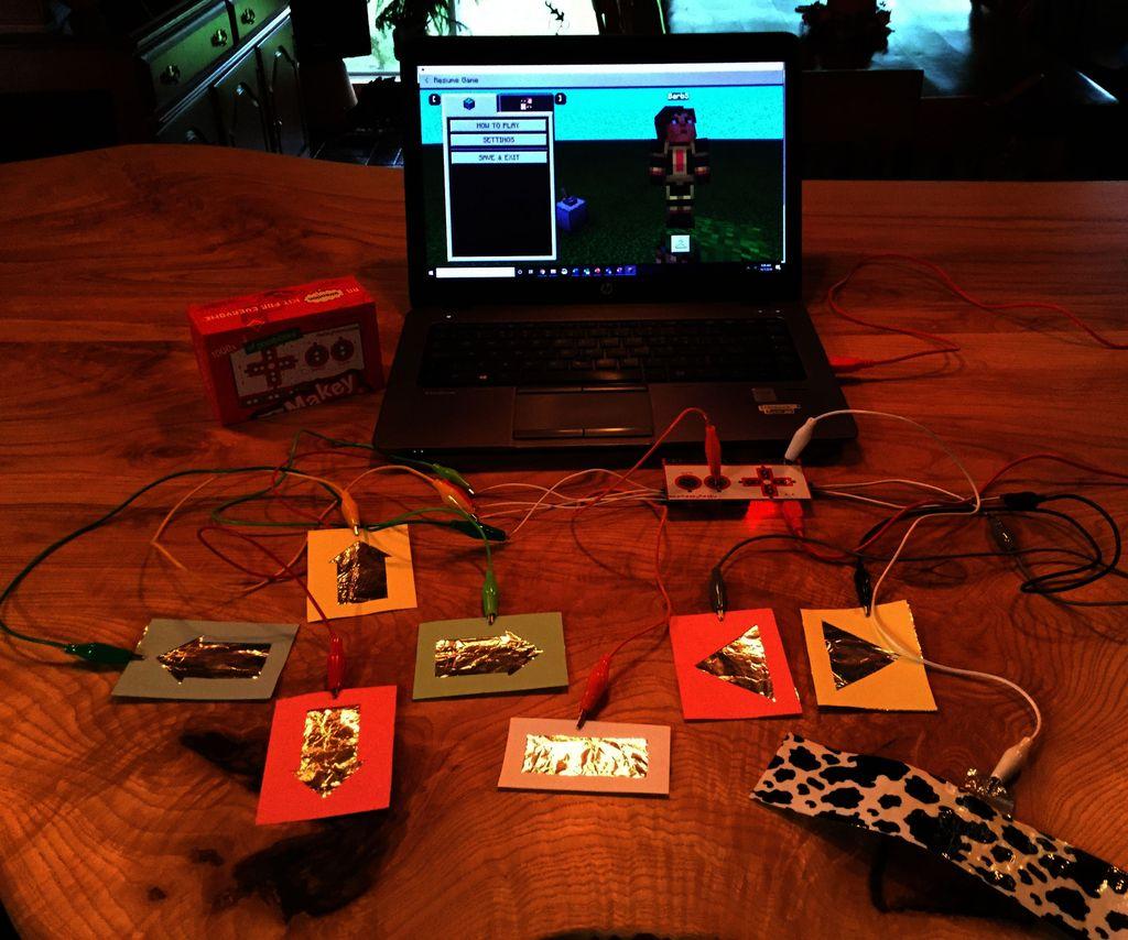 Makey Makey Minecraft Controller